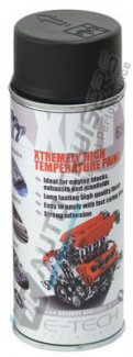E Tech XHT Black High Temperature Spray Paint