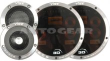"Vibe Space 3D 3"" inch 210w Car Tweeters Crossovers Pair"