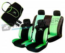 Green/Black Car Seat Covers Matching Package Deal
