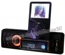 Car Apple ipod,iphone Player Unit with USB, MP3 3.5mm Auxiliary