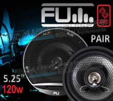 "FLI 5.25"" 120w Car Door Coaxial Underground Speakers - Pair"