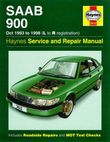 Haynes Repair Service Manual-Saab 900 (Oct 93 - 98) L to R