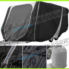 17 - 19 ft Heavy Duty Breathable Water Resistant Caravan Cover