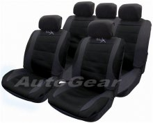 Black Mesh Fabric Universal Car Seat Covers Pack + FREE