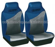 Blue Water Proof Car Front Seat Covers Pair, Air Bag OK