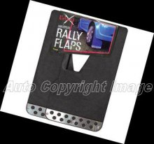 Universal Black With Chrome Plate Car Rally Mud Flaps
