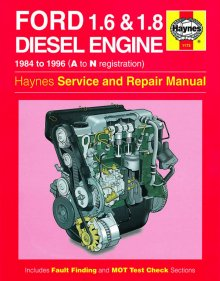 Haynes Repair Service Manual-Ford 1.6 and 1.8 litre DieselEngine