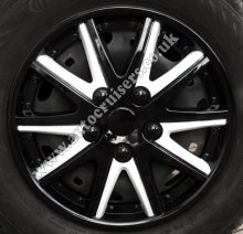 "15"" Black / White ABS Plastic Wheel Trims Cap Covers Set & Free"