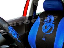 Blue Dragon Car 13pc Mats,Pads,Steering & Seat Covers