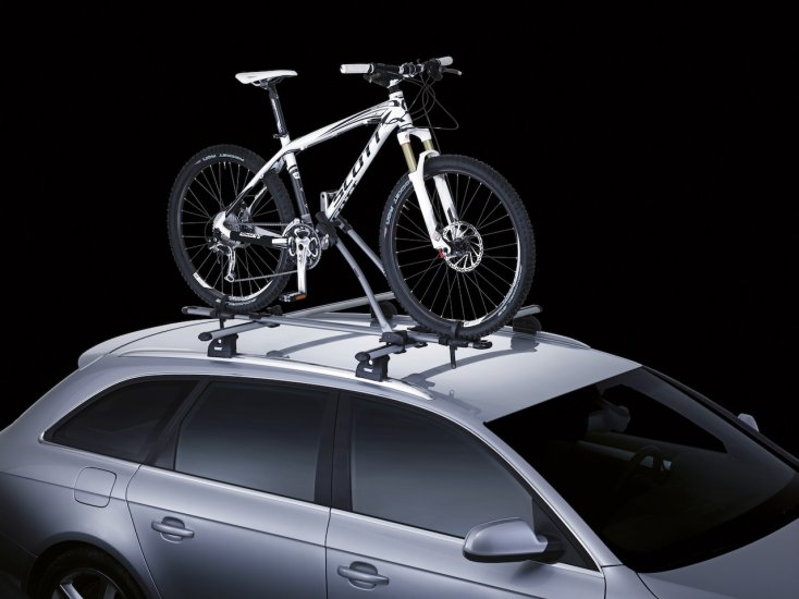 4 x Thule FreeRide Car Roof Mount Cycle Carrier Bike Rack - Click Image to Close