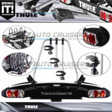 Thule EuroClassic G6 3 Bike Cycle Car Rear Towball Mount Carrier