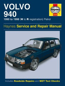 Haynes Repair Service Manual-Volvo 940 Petrol (90 - 98) H to R