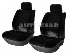 Black Suede Look Universal Car Seat Covers Front Pair