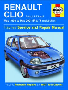 Haynes Repair Service Manual-Renault Clio Petrol and Diesel (May