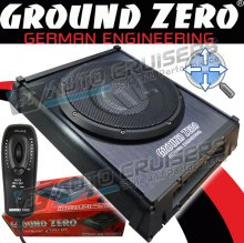 "Ground Zero GZTB200XAC Flat 8"" Car Under Seat Bass Sub Woofer"