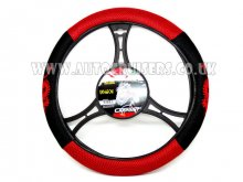 Mesh Look Black Red Dragon Car Steering CarPoint Wheel Cover