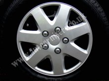 "13"" Sport 7 Spoke Look Car Wheel Trims Hub Covers & Free !!!"