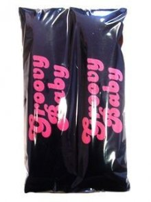GROOVY BABY PINK BLACK CAR SHOULDER SEAT BELT PADS PAIR