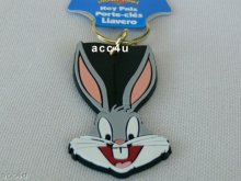 BUGS BUNNY NOVELTY KEYRING KEYCHAIN - Licensed Product