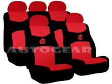 14pc Pack Red Dragon Car Seat Covers Steering Cover Pad