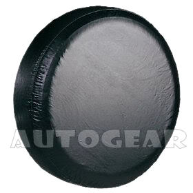 Black Leather Look 4x4 Jeep Spare Wheel Tyre Cover 29'' - Click Image to Close