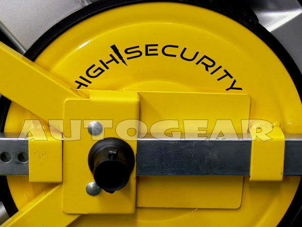Car Caravan Trailer Security Lock Steel Wheel Clamp - Click Image to Close