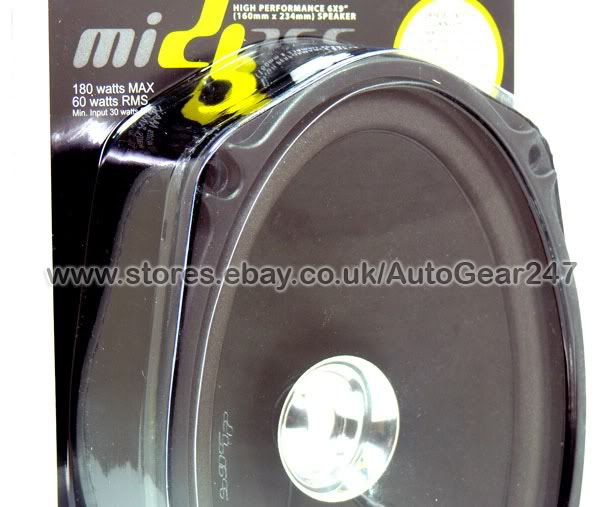Midbass (Owners of Vibe,Fli,Edge) DB69-M1 6x9 inch Car Van 180w - Click Image to Close