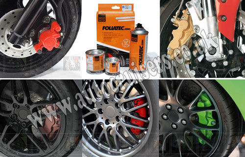 Foliatec Brake Caliper Engine Paint Carbon Grey Lacquer HighTemp - Click Image to Close
