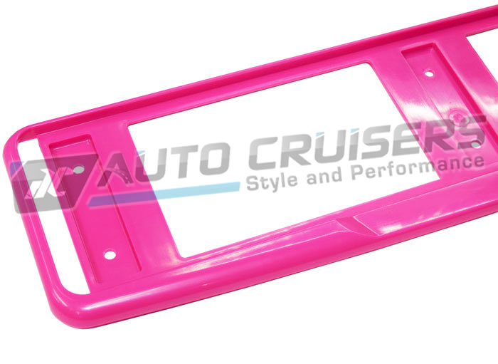 Car Number License Registration Plate Pink Trim Surround Frame - Click Image to Close