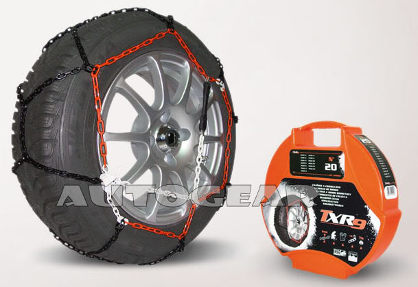 "Car Tyre 9mm TUV Approved N90 Snow Chains 15,16,17 &18"" - Click Image to Close"