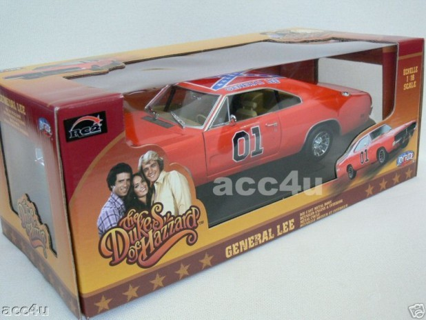 GENERAL LEE 69 DODGE DUKES OF HAZZARD DIECAST 1:18 CAR - Click Image to Close