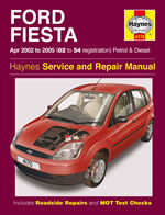 Haynes Repair Service Manual-Ford Fiesta Petrol & Diesel (Apr 02
