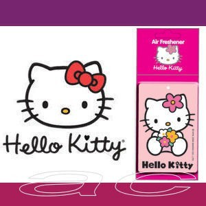 Hello Kitty 2D Pink Lemon Fragrance Car Air Freshener - Click Image to Close