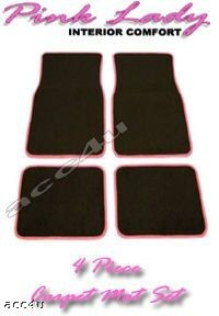 PINK CAR ACCESSORIES - LADY PINK CAR MATS 4 PIECE