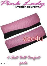 LADY PINK SEAT BELT SHOULDER HARNESS PADS MESH STYLE