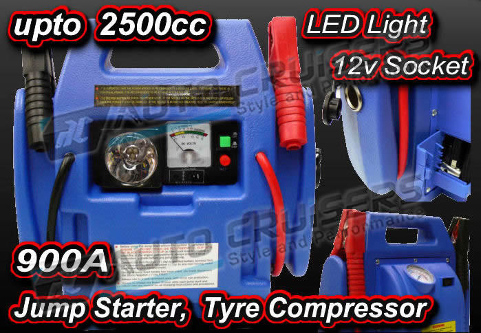 12V 900A Car Van Battery 4 in1 Jump Starter Booster Compressor - Click Image to Close
