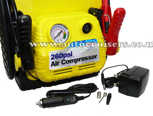 4 in 1 900a Car Battery Jump Starter, Power Pack & Compressor - Click Image to Close