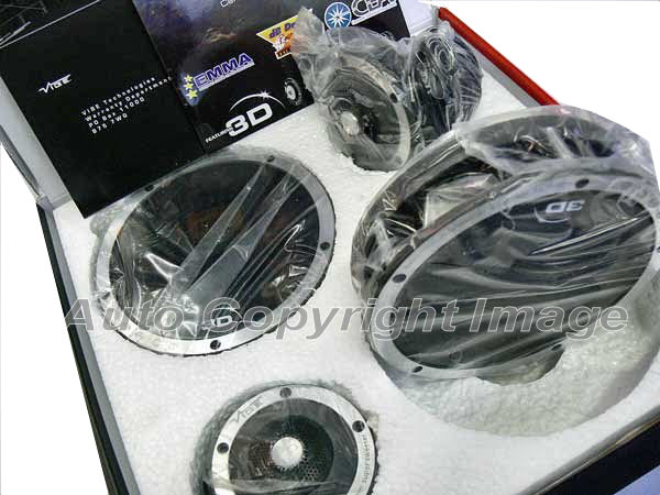 "Vibe Space 3D 3"" inch 210w Car Tweeters Crossovers Pair - Click Image to Close"