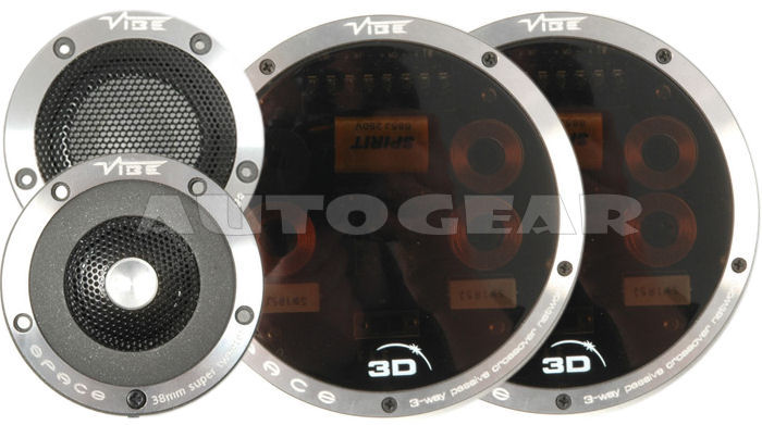 "Vibe Space Car Coaxial 5 5.25"" Component Door Speakers - Click Image to Close"
